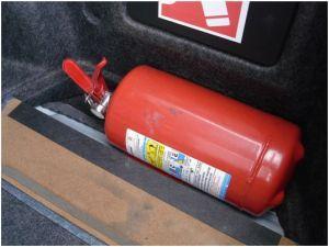 Использование огнетушителей в автомобилях