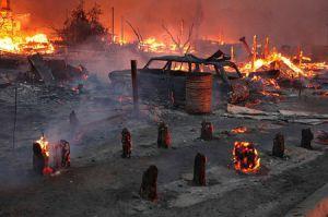 Мордовские монастырские дружины встали на защиту сел от огня