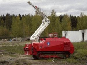 Роботы помогают тушить пожары