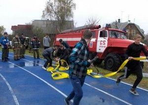 Соревнования юных пожарных прошли в Печоре