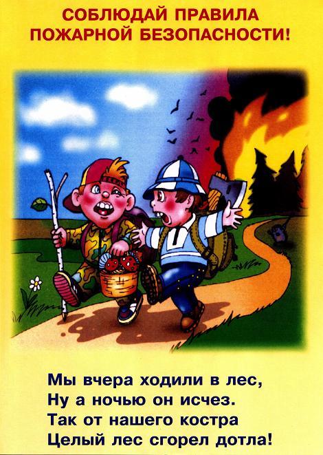 По пожарной безопасности для детей в