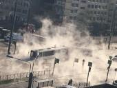 В России в горячую воду под асфальтом провалился автобус