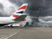 Пожар вспыхнул вблизи аэропорта Хитроу