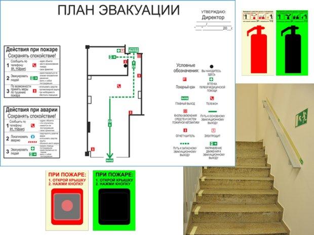 Где заказать разработку плана эвакуации при пожаре