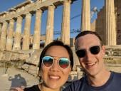 Цукерберг празднует 7 лет супружеской жизни в Греции