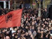 В столице Албании произошли столкновения демонстрантов с полицией