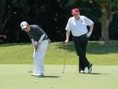 Абэ и Трамп сыграли в гольф
