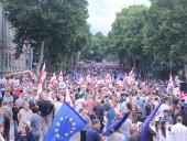 """В Грузии протестующие прошли """"Маршем свободы"""""""