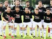 Игроки трех футбольных команд Грузии вышли на поле в футболках с антироссийскими лозунгами
