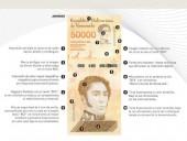 Венесуэла выпускает в обращение купюру в 50 тысяч боливаров после недавней деноминации