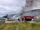 Появилось видео крушения самолета Ан-24 в Бурятии