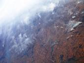 Из космоса сняли дым от лесных пожаров в Амазонии