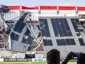 В Нидерландах обрушилась крыша стадиона, где должна была играть украинская команда