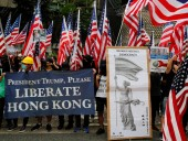 Тысячи протестующих в Гонконге призывают Трампа