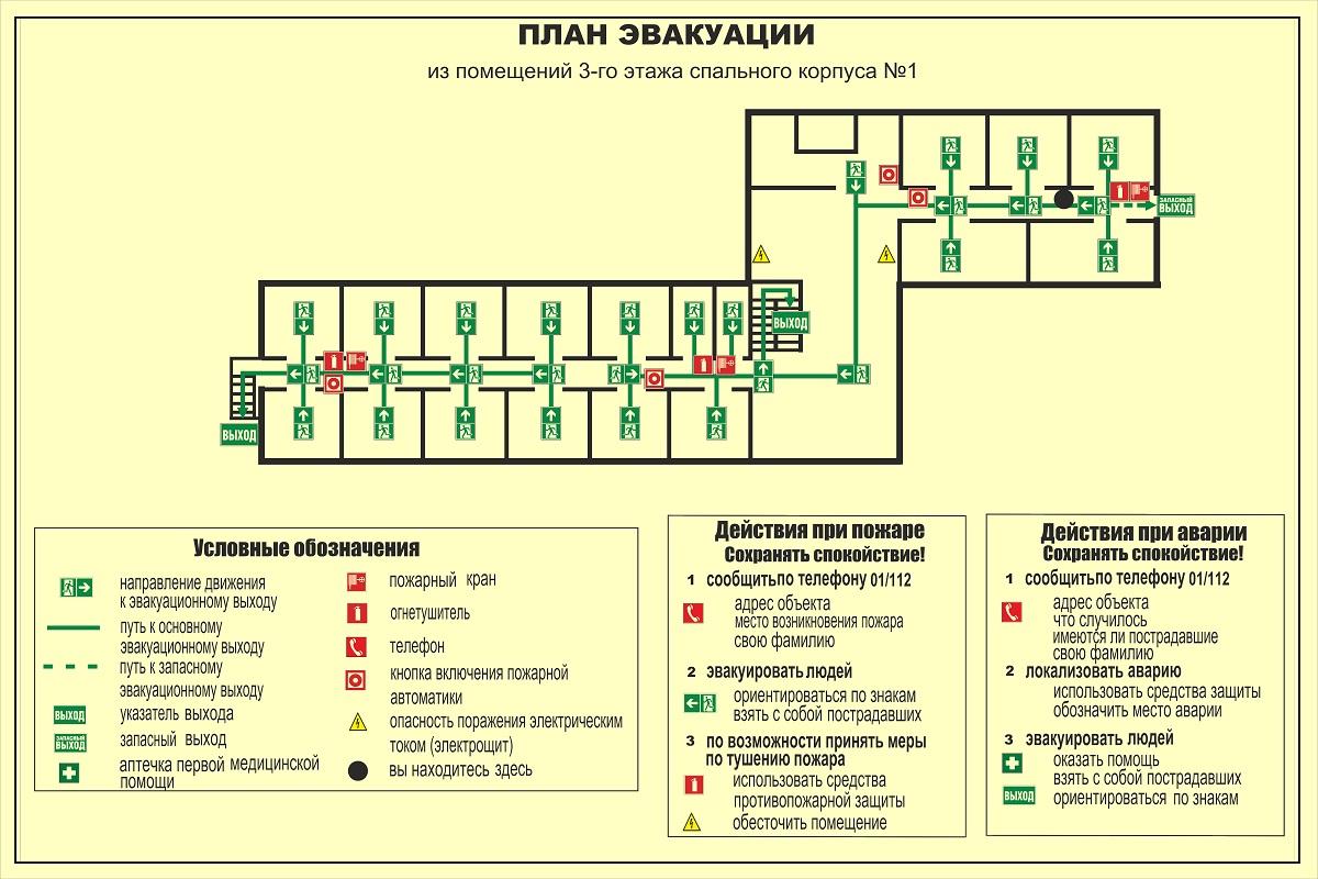 Разработка и изготовление планов эвакуации при пожаре в Москве
