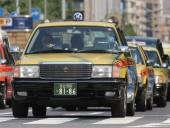 В Японии такси въехало в толпу пешеходов