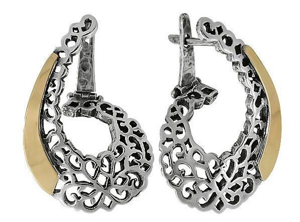 Качественные серебряные серьги из Израиля
