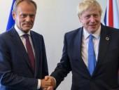 Джонсон подтвердил Туску, что отправит письмо об отсрочке Brexit