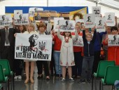 На фестивале в Венеции устроили акцию в поддержку нацгвардейца Маркива