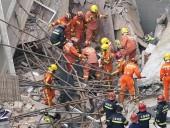 В Китае обрушилось здание банка