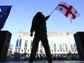В Тбилиси возобновились протесты оппозиции