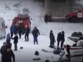 Появилось видео с места ДТП автобуса в Забайкальском крае, в которой погибли 19 человек