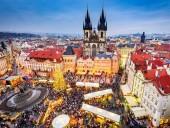 В Праге зажглась рождественская елка