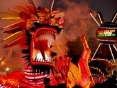 Новый год встретили в Азии