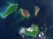 Ученые показали гигантские куски вулкана Кракатау на морском дне в Индонезии
