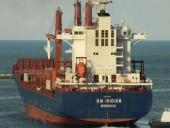 Судно-контейнеровоз, которое следовало из Одессы врезался в набережную Стамбула