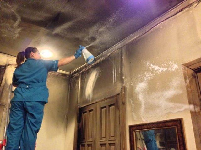 Как устранить запах гари по время уборки после пожара