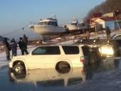В России 20 машин рыбаков провалились под лед