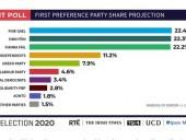 В Ирландии три партии набрали почти равное число голосов на досрочных выборах – экзит-полл