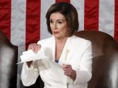 Пелоси после речи Трампа в Конгрессе США демонстративно разорвала текст его выступления