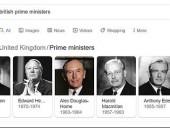 СМИ: изображение Черчилля исчезло из списка премьеров Великобритании в Google