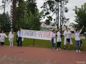 В Минске медики вышли на акцию против насилия во время протестов в Беларуси