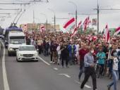 На протесты в Минске вышло более 100 тыс. человек, продолжаются задержания активистов