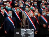 В Париже состоялась церемония прощания с убитым учителем