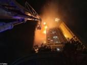 Крупный пожар в Южной Корее: горит 33-этажный дом