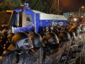 Полиция применила водометы при разгоне протестующих в Грузии, по меньшей мере один пострадавший