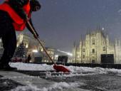 Снег в Италии: фото последствий непогоды