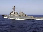 Американский ракетный эсминец Donald Cook покидает Черное море