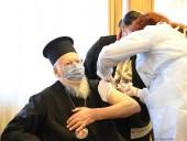 Вселенский Патриарх Варфоломей привился от коронавируса