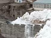 В Дагестане сняли на видео, как мощная лавина надвигается на село