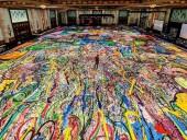 На аукционе в Дубае продали самую большую в мире картину за 62 млн долларов