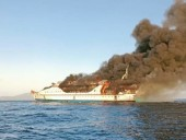 Пожар на судне в Индонезии: один пассажир пропал без вести