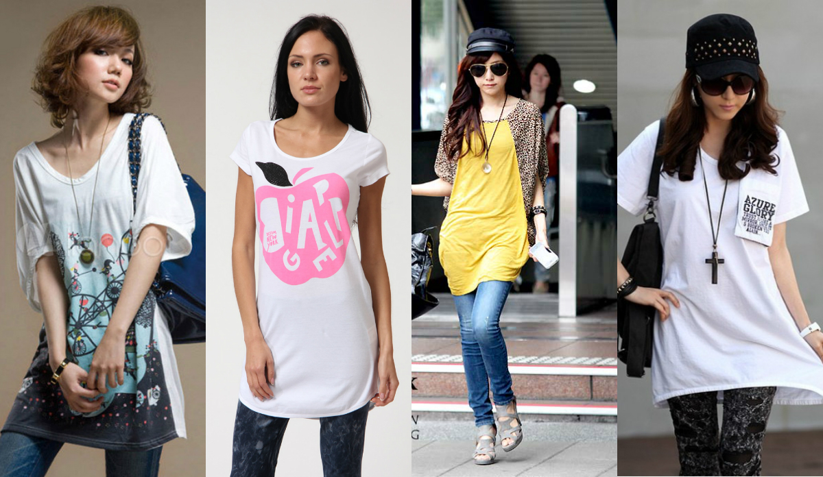 С чем сочетать женские футболки
