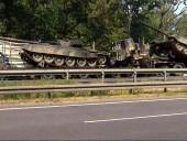 Во время транспортировки в Польше сгорело два танка Т-72