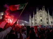 В Милане, во время празднования победы сборной Италии на Евро - пострадали 15 человек, трое в тяжелом состоянии