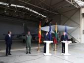 Конференция премьера Испании и президента Литвы была прервана из-за сигнала тревоги и взлета испанского истребителя